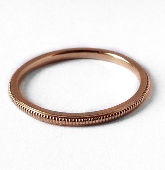 Maya Brenner Milligrane Ring in Rose Gold