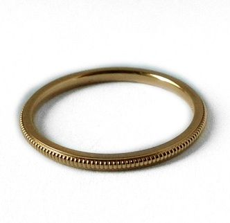 Maya Brenner Milligrane Ring in Yellow Gold
