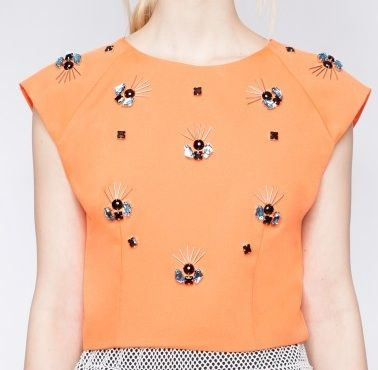 Pixie Market Beaded Crop Top