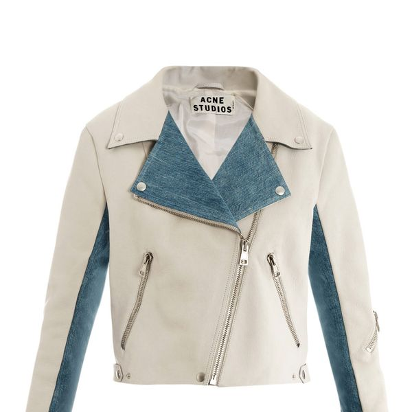 Acne Rita Leather and Denim Jacket