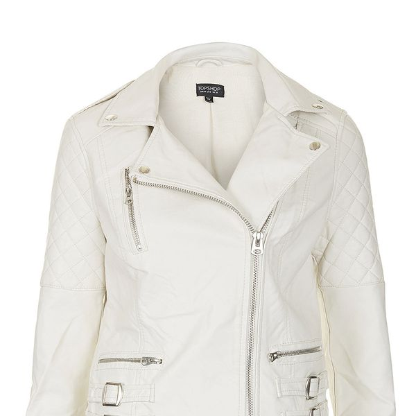 Topshop Quilt Detail Biker Jacket