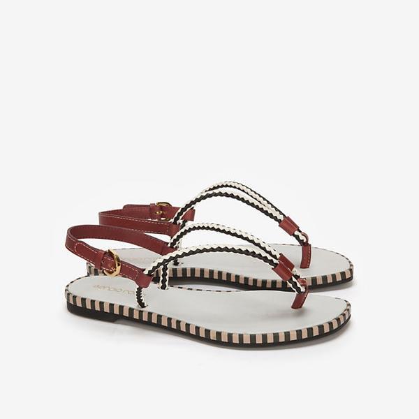Sergio Rossi  Metal Pop Flat Thong Sandals