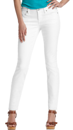 "LOFT Modern Skinny Ankle Jeans in White with 27 1/2"" Inseam"