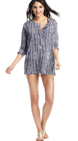 LOFT Etched Print Swimsuit Cover Up