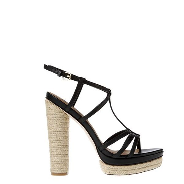 Ann Taylor  Roslyn Espadrille Wrapped Leather Platform Sandals