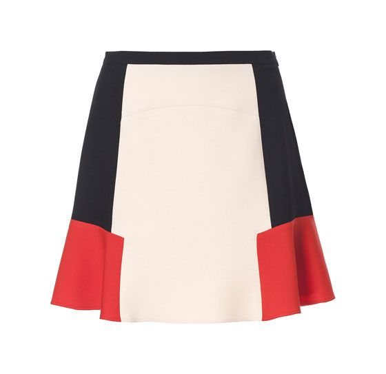 Zara Color Block Combination Skirt