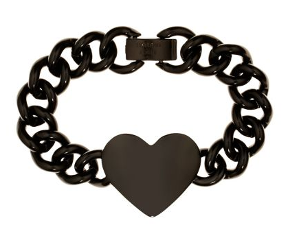 Juicy Couture Metal Heart ID Bracelet