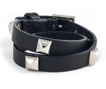 Fallon Classique Double Wrap Pyramid Bracelet