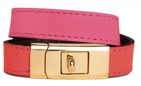 CC Skye Gold Double Wrap Portico Bracelet