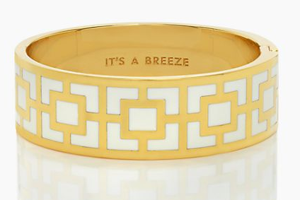 Kate Spade New York It's A Breeze Hinged Idiom Bangle