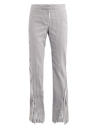 Acne Liz Stripe-Print Trousers
