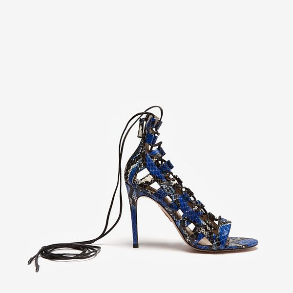 Aquazurra  Amazon Lace up Cage Sandals