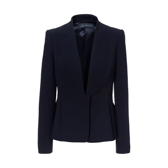 Zara  Blazer with Pleats at the Waist