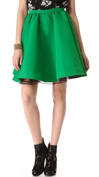 RED Valentino  Faille Full Mini Skirt