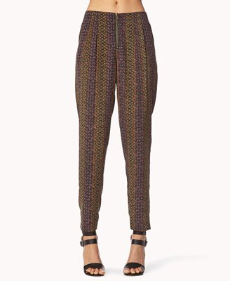 Forever 21  Laid Back Abstract Harem Pants