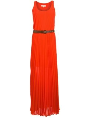 MICHAEL Michael Kors  Pleated Maxi Dress
