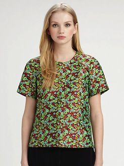 Elizabeth and James  Shell Floral Jacquard Top