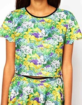 Lashes of London  Crop Top in Floral Print