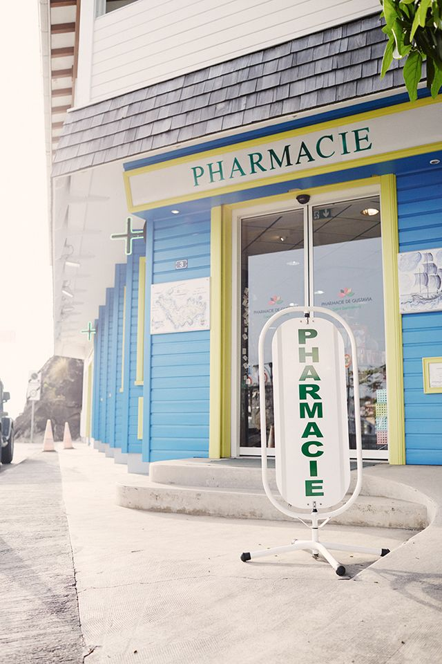 Who: Pharmacie de Gustavia  What: French pharmacies are travel destinations in their own right. Seated in the town of Gustavia, the capital of St. Barths, is the charming blue- and...