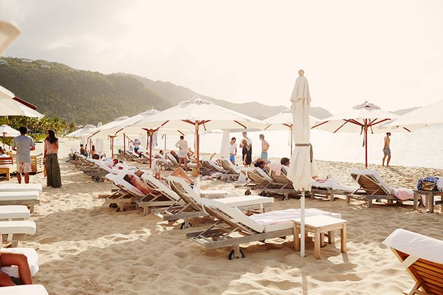 Reserve your sun chairs and umbrellas at the hotel's stylish private beach ahead of time for an uninterrupted day of lounging and refreshing soaks.