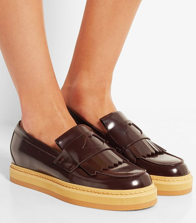 See by Chloé Glossed-Leather Loafers