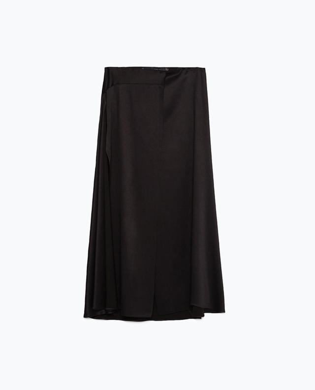 Zara Long Studio Skirt With Splits