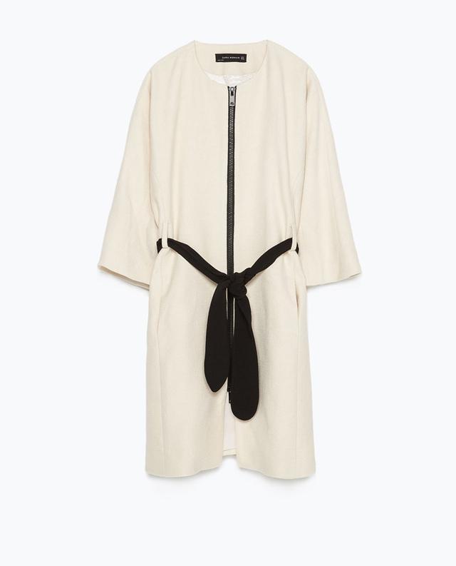 Zara Kimono Sleeve Belted Coat