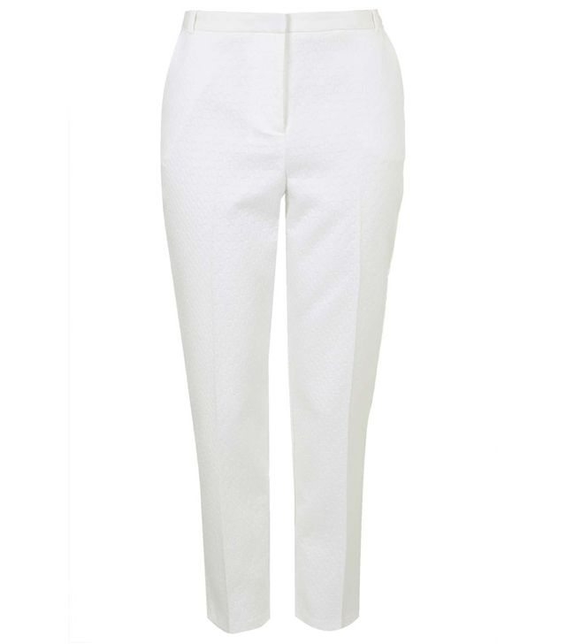 Topshop Contrast Waistband Cigarette Trousers