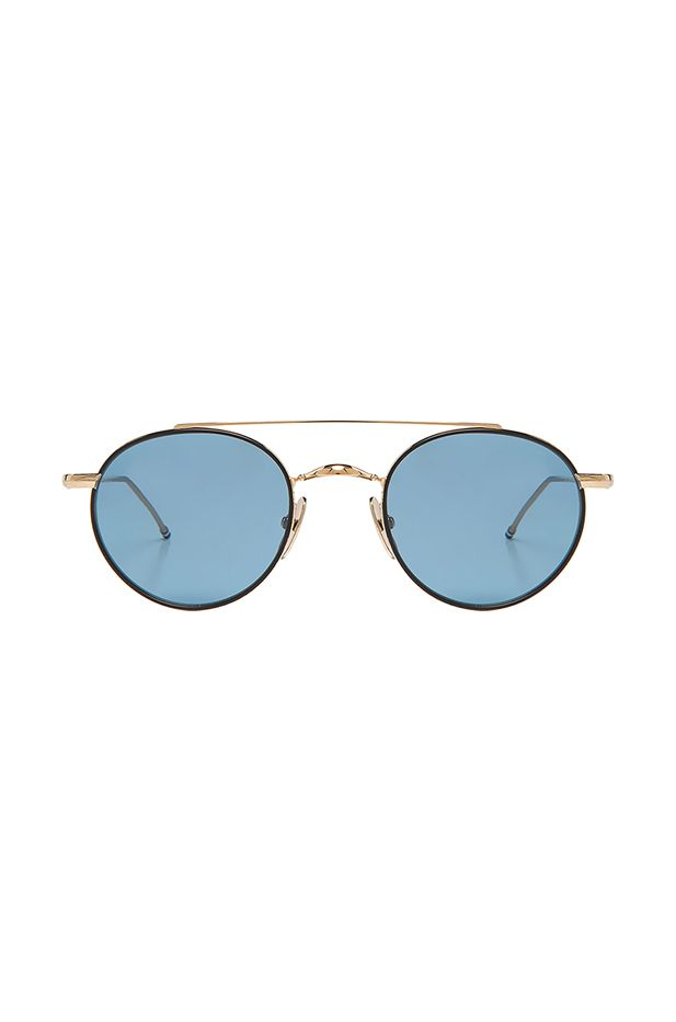 Thom Browne Round Metal Sunglasses