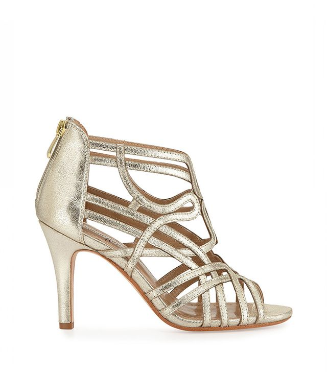 Neiman Marcus Leather Evening Sandals