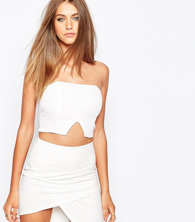 Missguided V Insert Bustier Top