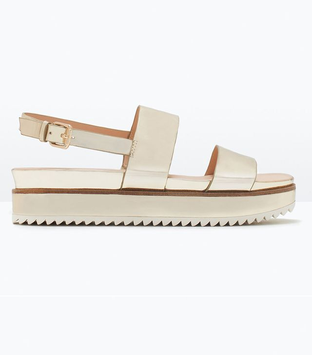 Zara Shiny Track Sole Sandals
