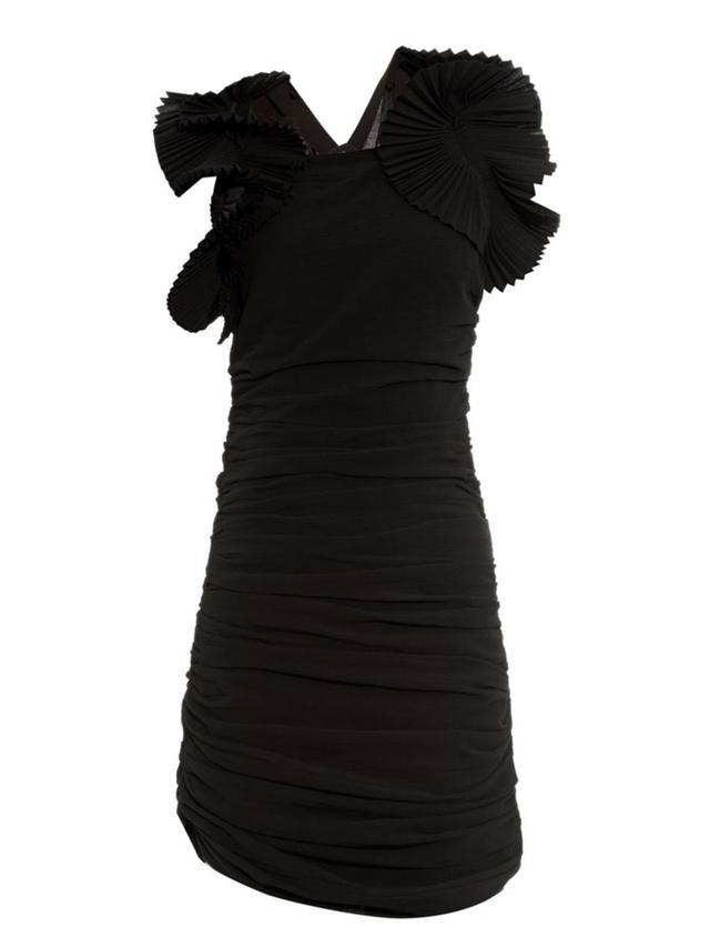 Isabel Marant Geeny Ruffled-Shoulder Dress