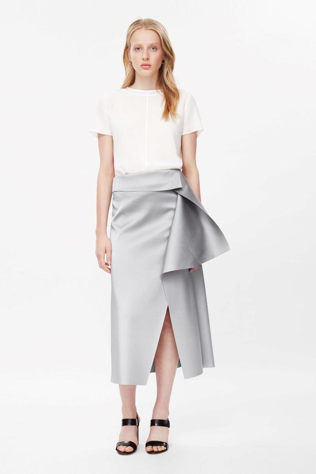 COS Raw-Cut Draped Skirt