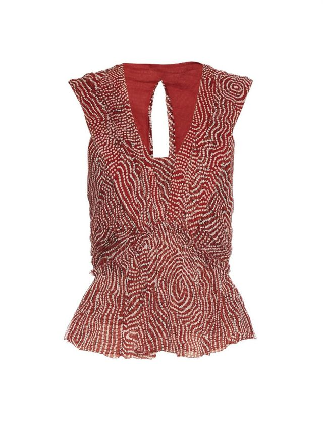 Isabel Marant Moddy Ruffle-Front Top