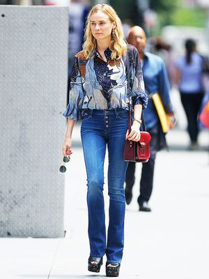 How to Wear Flare Jeans like Diane Kruger, Emma Roberts, and More