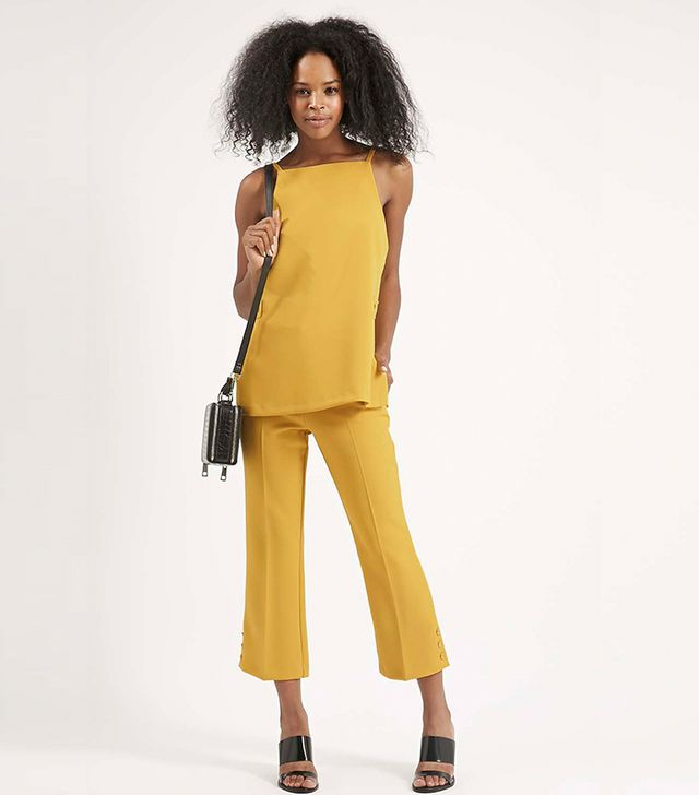 Topshop Cropped Flare Trousers