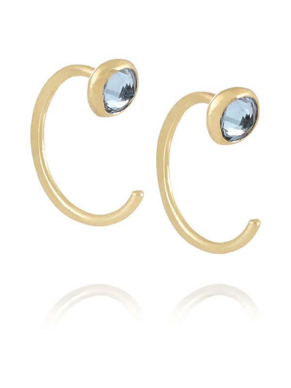 Melissa Joy Manning 14K Gold Topaz Earrings