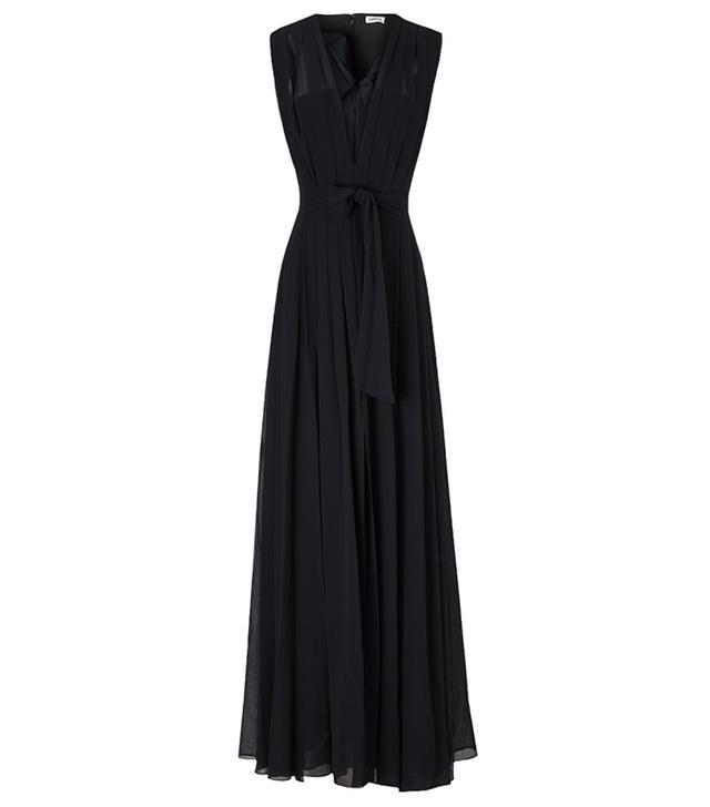L'Agence Pleated Sash Dress