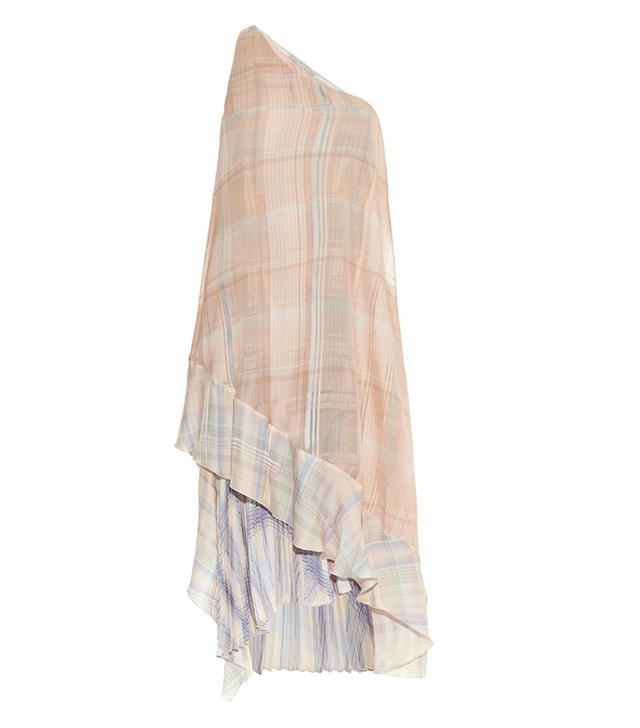 Stella McCartney Rosa Check-Print Silk Dress