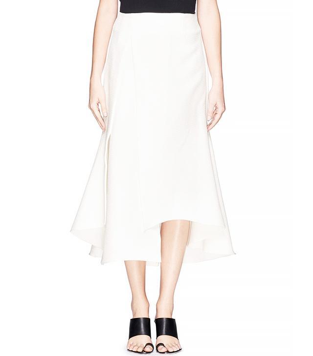 Ellery Olympia Asymmetric Crepe Midi Skirt