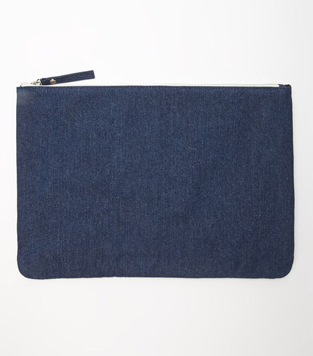 Forever 21 Unconstructed Denim Clutch