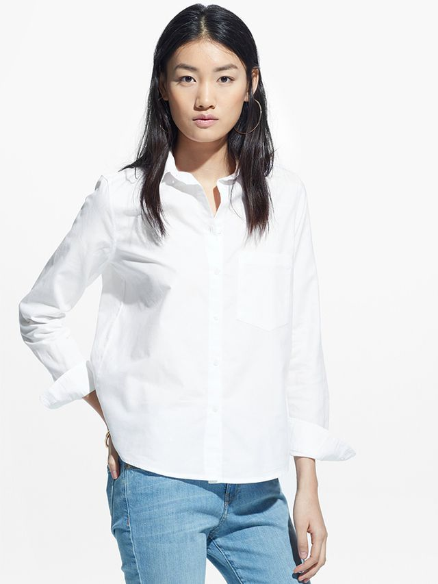 Mango Chest-Pocket Cotton Shirt