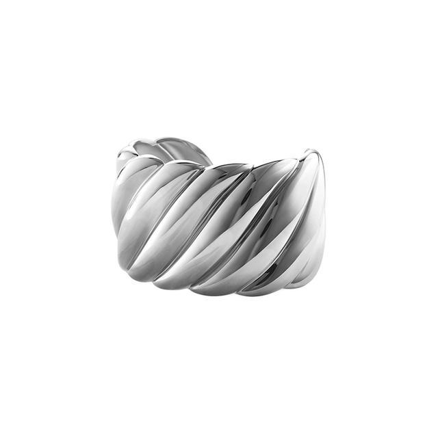 David Yurman Sculpted Cable Wide Cuff Bracelet