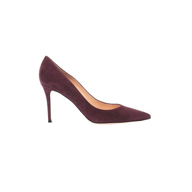 Gianvito Rossi Business Point-Suede Pumps
