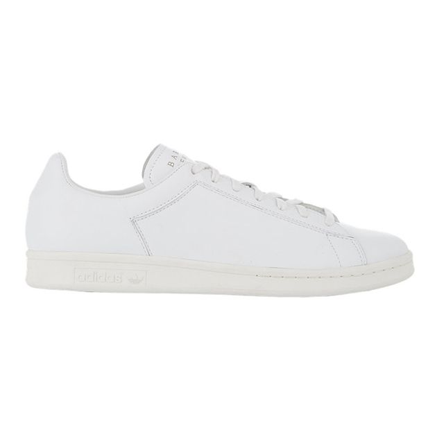 Adidas x BNY White Logo-Stamped Stan Smith Sneakers