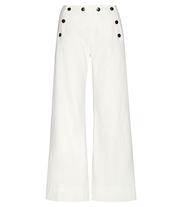 Tomas Maier Stretch-Cotton Wide-Leg Pants