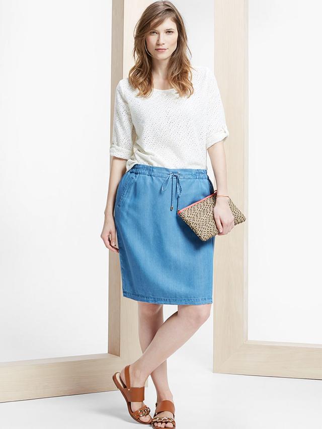 Mango Denim Soft Skirt