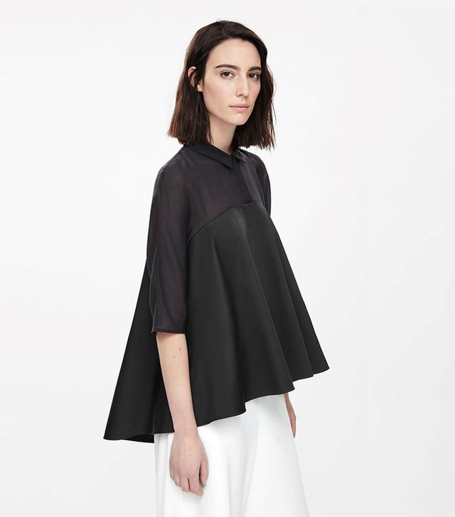 COS Sheer Panel Tunic Top