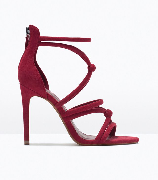 Zara Knotted High-Heel Sandals